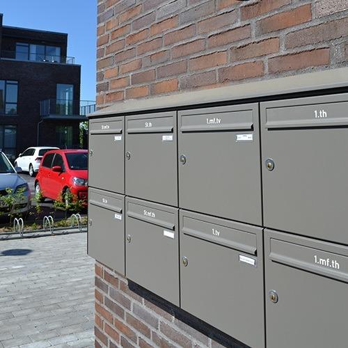 Væghængte postkasseanlæg