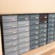 Postkasser i blå nuancer