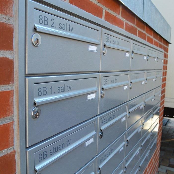 Planforsænket postkasser